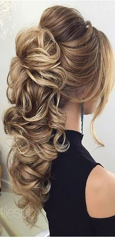 We make a list of our favorite wedding hairstyles for long hair. - - We make a list of our favorite wedding hairstyles for long hair. Look through it and pick your perfect variant to become the most beautiful bride. Easy Hairstyles For Long Hair, Wedding Hairstyles For Long Hair, Elegant Hairstyles, Wedding Hair And Makeup, Pretty Hairstyles, Braided Hairstyles, Bridesmaid Hairstyles, Long Haircuts, Modern Haircuts