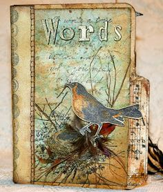 CREATIVITY IS CONTAGIOUS: A VINTAGE MINI ALBUM FILLED WITH WORDS