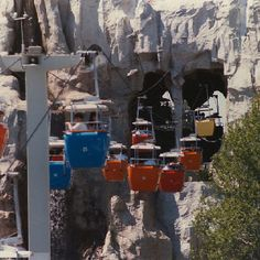 Skyway at Disneyland that went back & forth from Fantasyland to Tomorrowland. It also went through the Matterhorn ride.