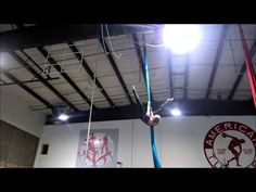 Aerial Silks Practice: Hurricane Drop Variation - YouTube