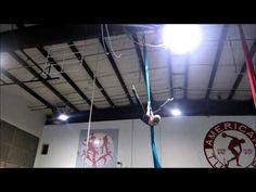 Aerial Silks Practice: Hurricane Drop Variation - YouTube