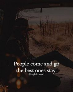 People come and go..