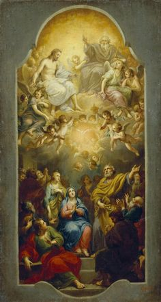 Mengs, Anton Raphael. 1728-1779 Descent of the Holy Spirit Germany, Circa 1765