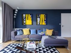 ▷ 1001 + ideas to succeed the blue living room decor and give a new look to living room - green Living Room Decor Colors, Living Room Green, Living Rooms, Apartment Balcony Decorating, Mid Century Modern Living Room, Piece A Vivre, Modern Coffee Tables, Cool House Designs, Garage Extension