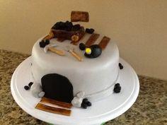 Coal Miner Birthday Cake