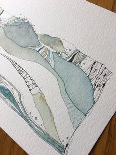 Abstract Drawings, Abstract Watercolor, Watercolor And Ink, Watercolor Illustration, Watercolor Paintings, Art Drawings, Watercolours, Art Journal Inspiration, Painting Inspiration