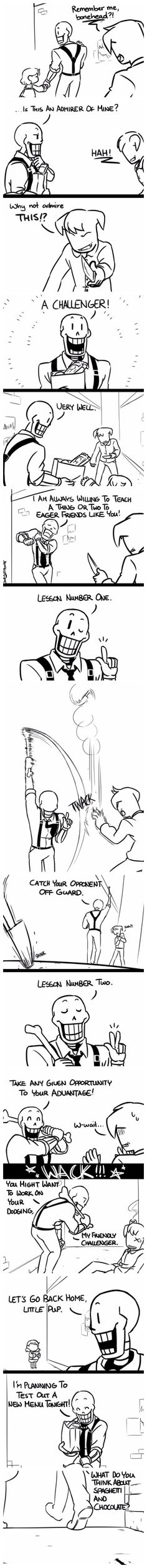 Frisk and Papyrus - MobsterUT AU - comic
