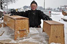 replica oseberg 149 chest  & 178 chest  made by Oddleiv Steinkjer for the Nytt Oseberg Skip