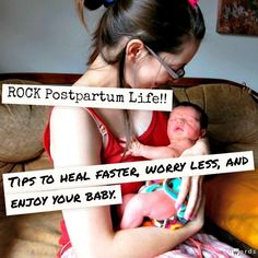 Tips to ROCK Postpartum #newborn #motherhood | JellibeanJournals.com