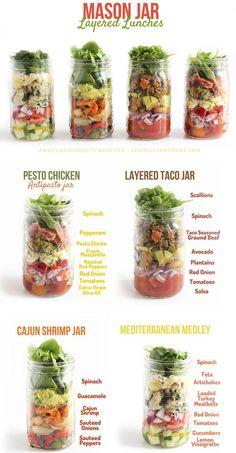 """Mason Jar + 4 receitas para fazer salada no """"vidrinho"""""""