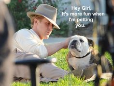 Oh man this is amazing. Ryan Gosling and a bulldog