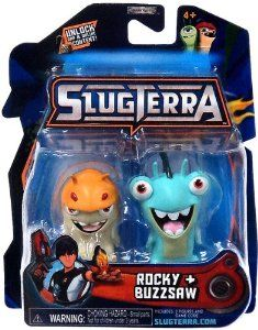 Slugterra Mini Figure 2-Pack Rocky & Buzzsaw [Includes Code for Exclusive Game Items] by Jakks. $18.99. Choose your ammo Slug it out! Slugterra is an epic scifi comedy adventure set deep underground, where the ammos alive and only the quick survive! In this luminous, hightech, underground world every cavern holds a new adventure, new battle and weird little slugs to be discovered. Eli Shane is determined to be the greatest slugslinging hero of them all. To do it, hell ne...