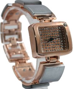 FW751B Rechteck Rose Gold Tonwahlverfahren Very Nice Schöne Rose Gold-Armband-Uhr