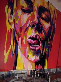 Cool graffiti hunting de León Guanajuato en el Alison por Nickis Manos Pintadas @jcvillagomez