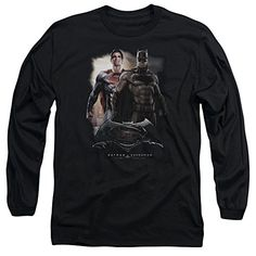 Batman v Superman Dawn Of Justice DC Comics Dawn Movie Logo Adult Long Sleeve T @ niftywarehouse.com #NiftyWarehouse #Batman #DC #Comics #ComicBooks