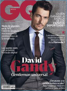 David Gandy covers the October 2016 issue of GQ México.