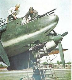 Armourers Working on a Messerschmitt Bf-110