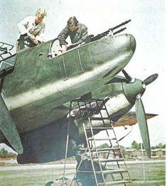 Armourers Working on a Messerschmitt Bf-110