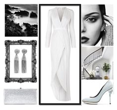 """""""White Queen"""" by jeangrant13 ❤ liked on Polyvore featuring WALL, Galvan, Oscar de la Renta and Jimmy Choo"""
