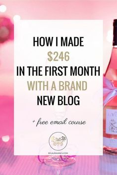 How I made a profit in the first month blogging. First blog income report. First blog traffic report. How I made $246 with a brand new blog.