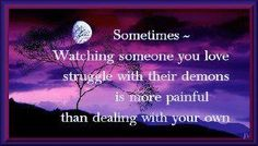 Mine are nothing-wished many times I could take away your pain...