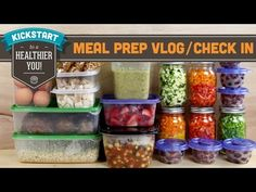 nice Meal Prep for the Week - Mind Over Munch Kickstart Series Make Ahead Meals, Easy Meals, Healthy Beans, Low Carb Recipes, Healthy Recipes, Chicken Meal Prep, Meal Prep For The Week, Batch Cooking, Easy Meal Prep