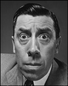 Philippe HALSMAN :: French actor Fernandel, NYC, 1948