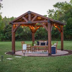 Cedar Wood 12' x 12' Gazebo with Aluminum Roof by ... on Backyard Discovery Pavilion id=98496