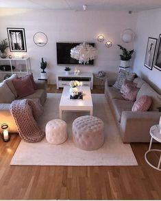 cozy living room decor ideas you will need to copy 9 Sitting Room Decor, Living Room Decor Cozy, Home Living Room, Interior Design Living Room, Living Room Designs, Bedroom Decor, Cosy Grey Living Room, Entryway Decor, Master Bedroom