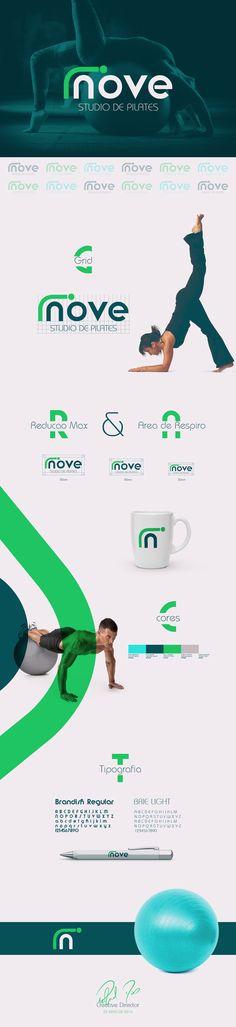 Logo e Identidade Visual desenvolvida para Inove Studio de Pilates em Goiânia.