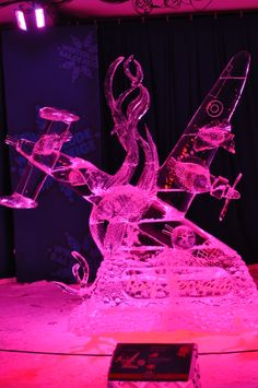 Ice sculpture in the Crystal Garden at #Winterlude 2014, Confederation Park, Ottawa, ON