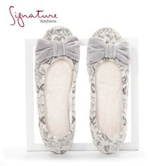 These dainty but durable Sequin Fair Isle Ballerina slippers will have you dancing through the living room in no time. Dearfoams Signature Collection. #comfortandjoy #slippers #ballerina