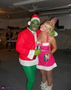 the grinch and cindy lou who costume - Baby Grinch Halloween Costume