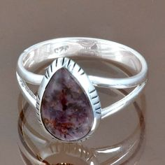 925 STERLING SILVER NEW STYLISH CACOXONITE FAISHIONABLE RING 3.61g R9157 SZ-9.5 #Handmade #Ring
