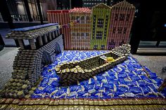 Canstruction - canned food art