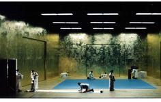 Brecht. Nationaltheater Mannheim. Scenic design by Martin Zehetgruber. 1998