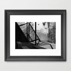 "FRAMED ART PRINT/ VECTOR BLACK MINI (12"" X 10"") Solid shadows by LaCatrina.it"
