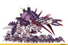 Warhammer 40000,warhammer40000, warhammer40k, warhammer 40k, ваха, сорокотысячник,фэндомы,Wh Gif,Wh Other,Tyranids,Тираниды,Maleceptor,Pixel Gif,Pixel Art,Пиксель Арт, Пиксель-Арт,Hormagaunt,Gaunts,Ripper (WH 40000),Прожора,SteelJoe