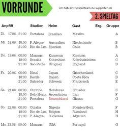 http://www.ich-hab-ein-fussballteam-zu-supporten.de/sport/blogging/wm-2014-spielplan Spielplan WM 2014, Vorrunde, 2. Spieltag