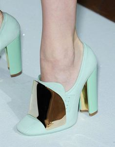 This color is making a massive splash on runways for Spring '12, and I'm completely in love with penny loafers.