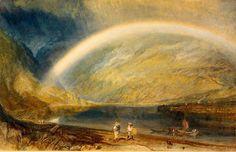 William TURNER, Arc en ciel - vue du Rhin :