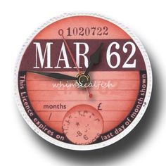 MARCH-1962-Retro-Tax-Disc-Clock-great-52nd-birthday-gift