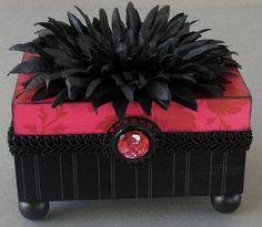 Classic Pinstripe Keepsake Box by funkyart08 on Etsy, $32.00