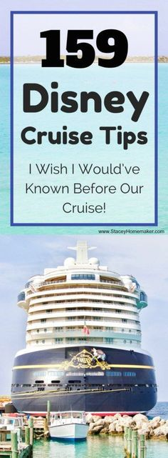 This list of 159 Disney cruise tips is pure gold! It includes everything we learned on our Disney cruise + all the tricks we learned to have the BEST vacation ever!