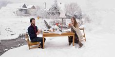 Winter,dinning room, eat fresh, fresh, creative, table, art