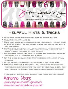 Tips and tricks to applying Jamberry Nail shields! Shop online now for Jamberry Nails wraps now at http://TashiaC.jamberrynails.net