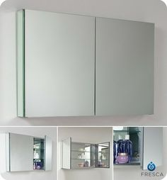 large mirrored medicine cabinet. Fresca Large Bathroom Medicine Cabinet W/Mirrors Modern Cabinets Mirrored R