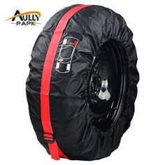 เสนอ Car Spare Tyre Cover Garage Tire Case Auto Vehicle Automobile Tire Accessories Summer Winter Protector Tire Storage Bag ซอ