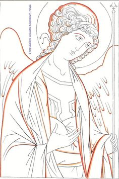 Google+ Religious Images, Religious Icons, Religious Art, Painting & Drawing, Painting Process, Byzantine Art, Saint Michel, Archangel Michael, Gold Work