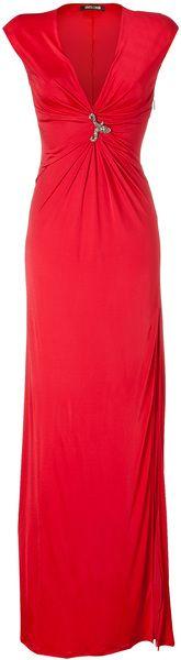 ROBERTO CAVALLI Grenadine Draped Maxi Dress